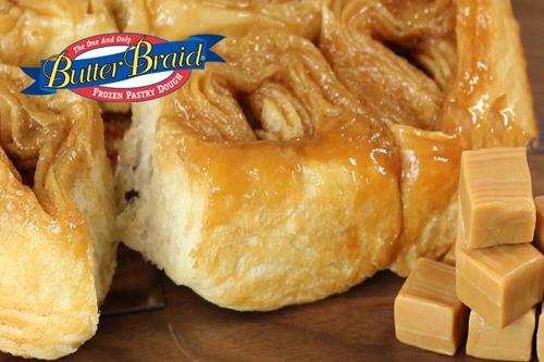 Caramel Butter Braid Pastry Roll