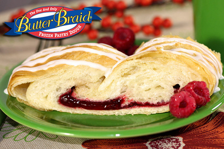 Raspberry Butter Braid Pastry